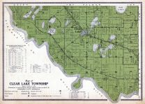 Clear Lake Township, Elk Lake, Long, Clear, Sherburne County 1914